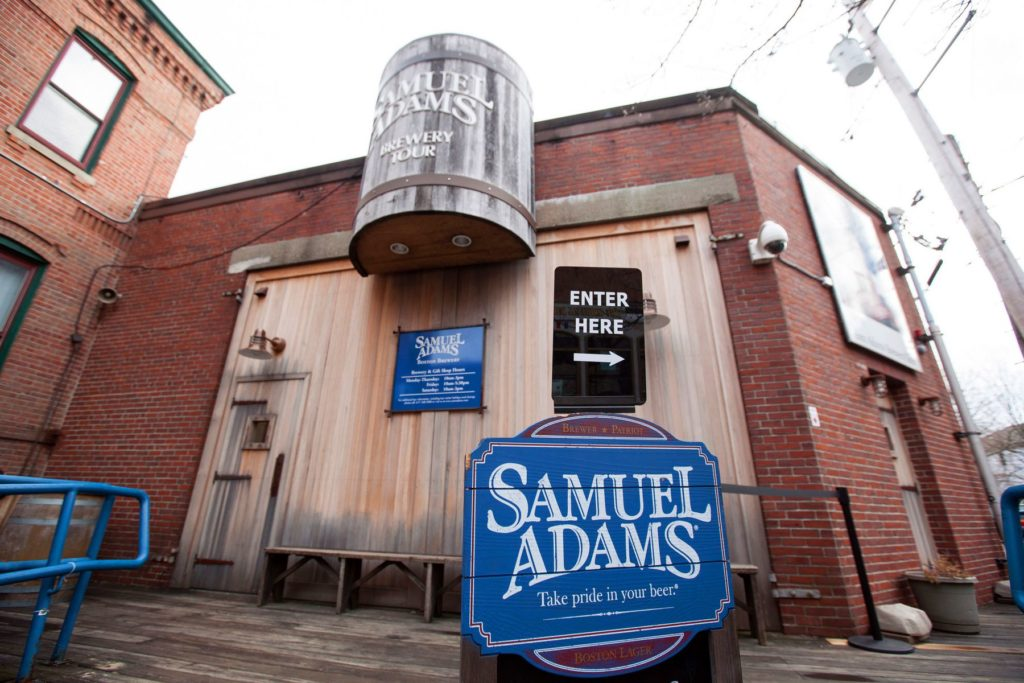 this picture shows the samuel adams, one of the best point of interest for tourist in boston